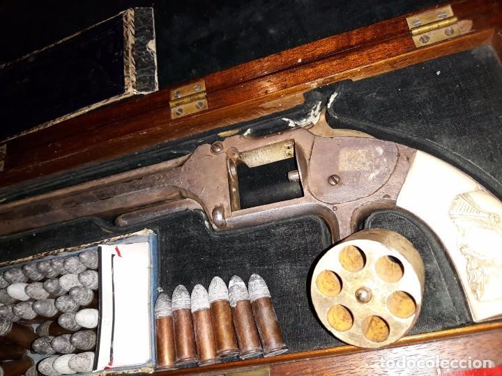 Militaria: Smith & Wesson Model No. 2 Army culata en marfil tallado - Foto 11 - 102532891