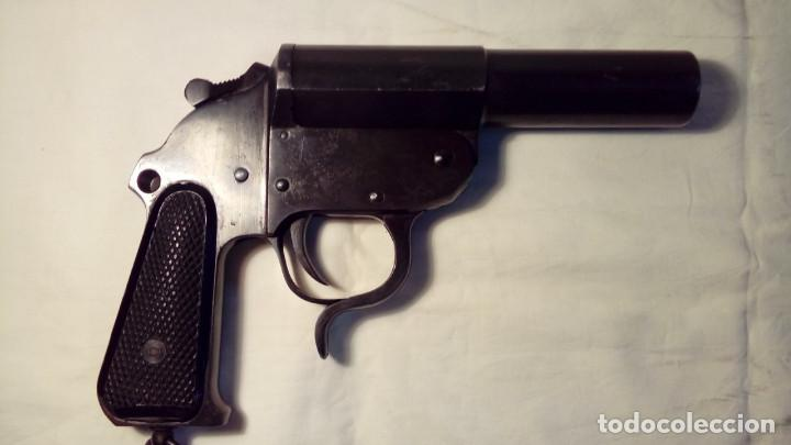 Militaria: Lanzabengalas CORUÑA modelo 1943 - Foto 2 - 106981071