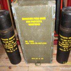 Militaria: CAJA VACIA DE MUNICION DE 105 MILIMETROS. Lote 107222831