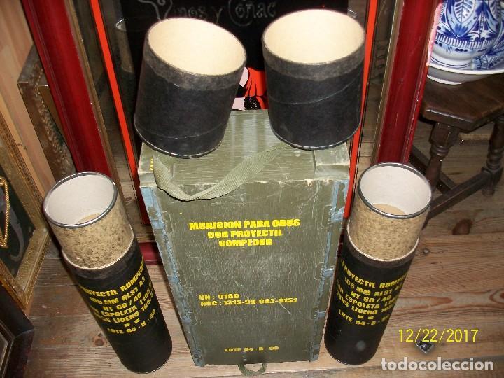 Militaria: CAJA VACIA DE MUNICION DE 105 MILIMETROS - Foto 2 - 107222831