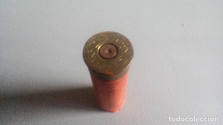 Militaria: CARTUCHO CALIBRE 12 - TIRO LUBRIFICADO EXCELSIOR - ORIGINAL TRUST - EN CARTON - INERTE - Foto 3 - 108249699