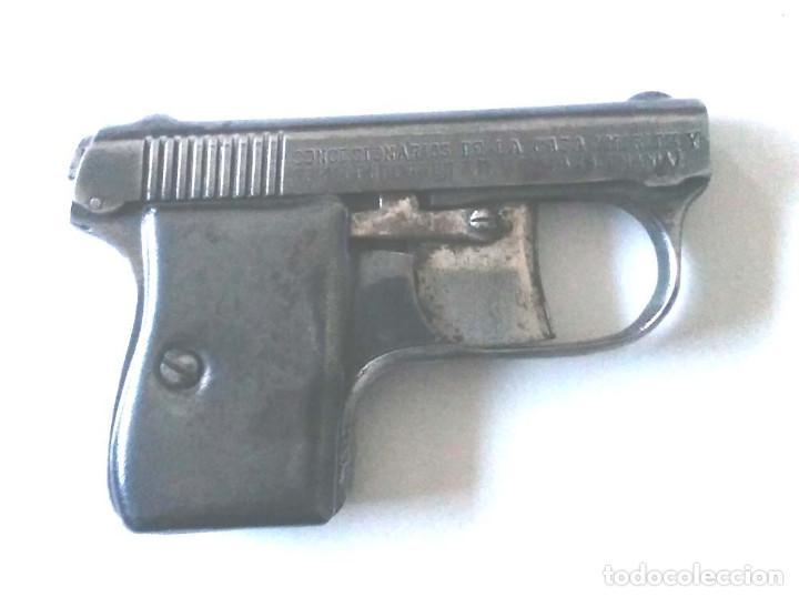 Militaria: Pistola Detonadora casa Moritz y Gerstenberger de Zella Alemania año 1910, espanta Perros, con caja - Foto 4 - 108855123
