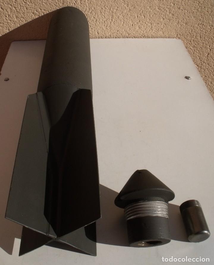Militaria: BOMBA ALEMANA DE AVIACION DE 10 KG SC 10 DE INSTRUCCION USADA EN LA GUERA CIVIL ESPAÑOLA Y 2ª GM - Foto 3 - 109555155