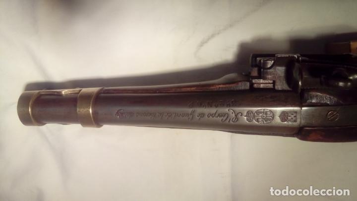 Militaria: pistola de chispa del REAL CUERPO DE GUARDIAS DE LA PERSONA DEL REY - Foto 6 - 110712559