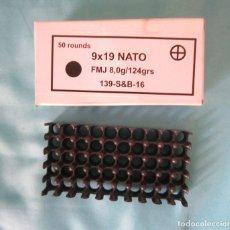 Militaria: CAJA VACIA DE 50 CARTUCHOS 9 PARABELLUM MARCA SELLIER AND BELLOT JSC. Lote 119235067