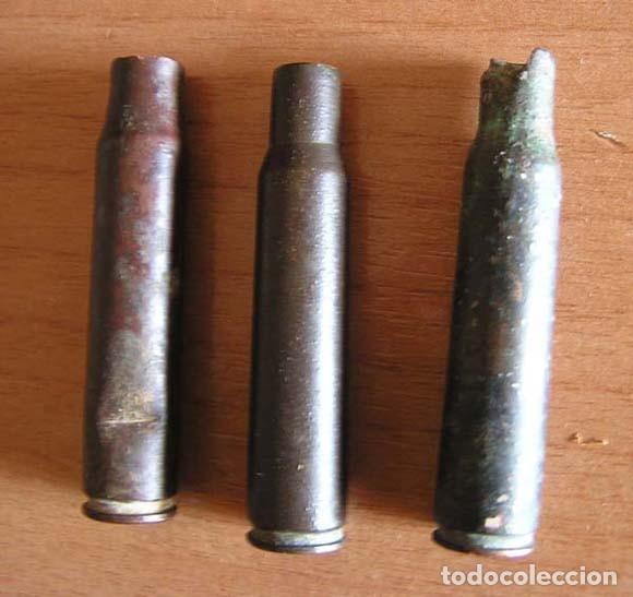 3 VAINAS MUNICIÓN FUSIL / AÑOS 40 (Militar - Cartuchería y Munición)