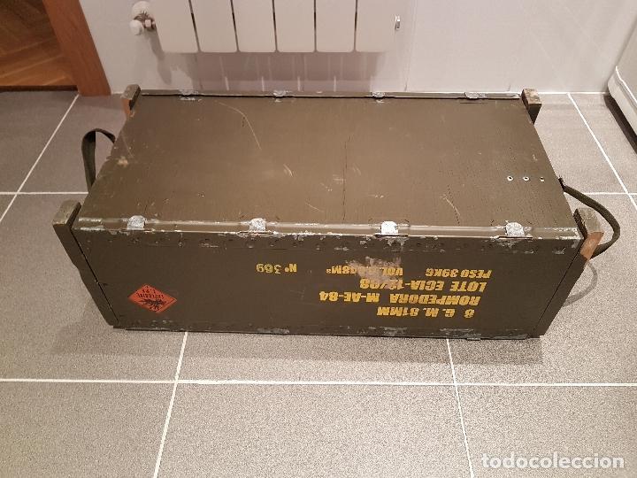 Militaria: caja municion granadas de mortero 81MM rompedora ver fotos - Foto 2 - 121010359
