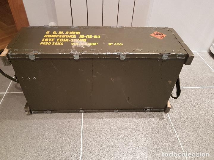 Militaria: caja municion granadas de mortero 81MM rompedora ver fotos - Foto 4 - 121010359