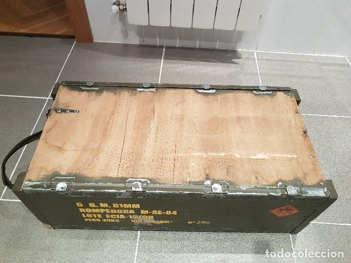 Militaria: caja municion granadas de mortero 81MM rompedora ver fotos - Foto 5 - 121010359