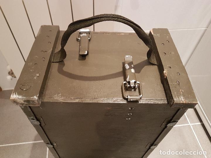 Militaria: caja municion granadas de mortero 81MM rompedora ver fotos - Foto 9 - 121010359