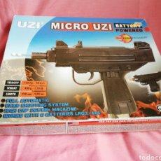Militaria: PISTOLA DE BOLITAS MICRO UZI BATTERY POWERED. Lote 121850348