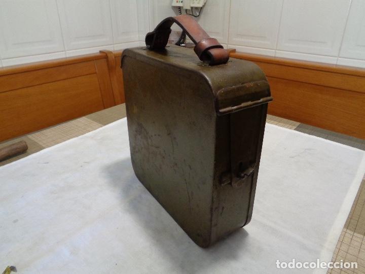 Militaria: caja metálica guerra civil ametralladora Máxima - Foto 2 - 126134643