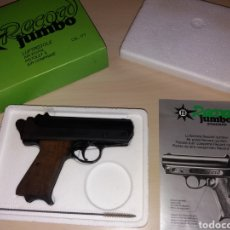 Militaria: ANTIGUA PISTOLA DE AIRE COMPRIMIDO FB RECORD JUMBO - MADE IN W. GERMANY. Lote 135198645