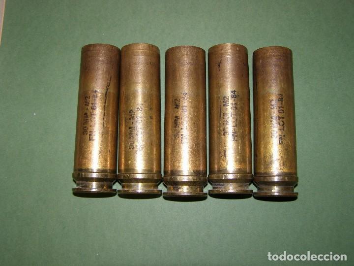 LOTE DE 5 VAINAS DE CARTUCHOS ADEN - DEFA DE 30 MM. INERTES. (Militar - Cartuchería y Munición)