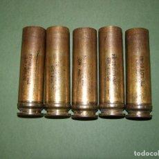 Militaria: LOTE DE 5 VAINAS DE CARTUCHOS ADEN - DEFA DE 30 MM. INERTES.. Lote 128509879
