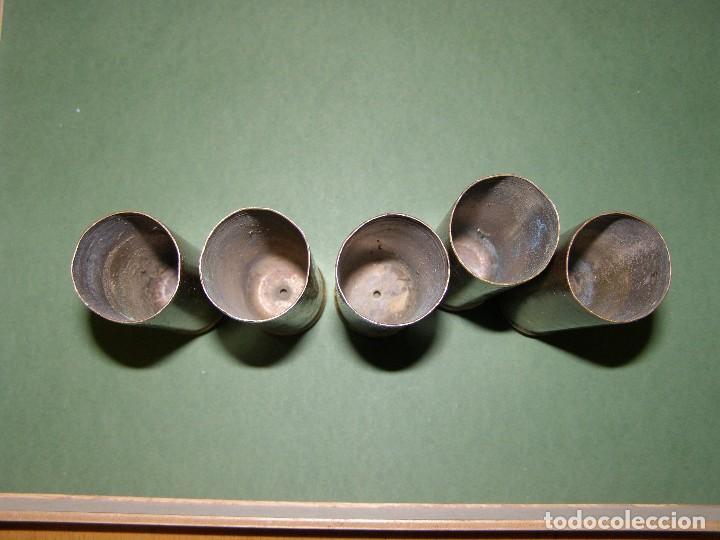 Militaria: Lote de 5 vainas de cartuchos ADEN - DEFA de 30 mm. INERTES. - Foto 2 - 128509879
