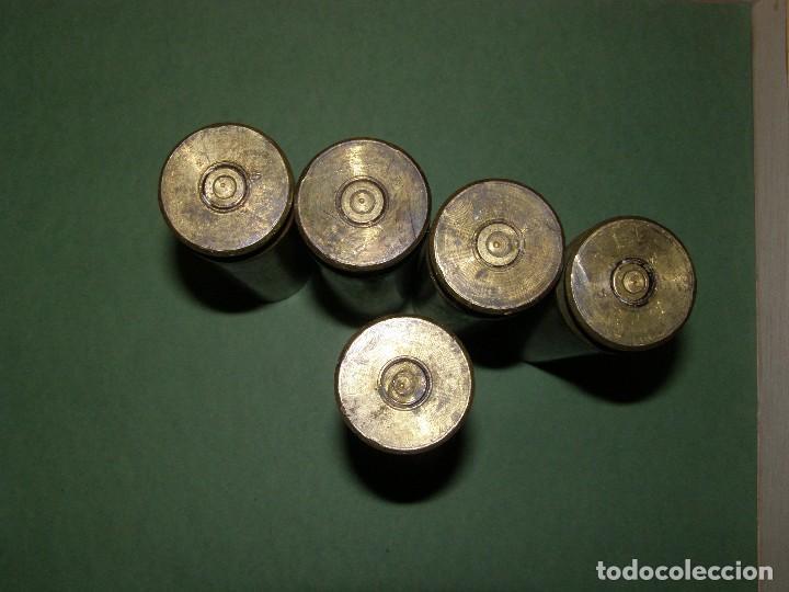 Militaria: Lote de 5 vainas de cartuchos ADEN - DEFA de 30 mm. INERTES. - Foto 3 - 128509879