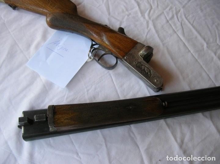 OLD SHOTGUN ,ALTE SCHROTFLINTE . ESPINGARDA .ESCOPET .PARALEL.CAL.12. MUJICA 2221.1940S . PAPELES . (Militar - Armas de Fuego en Uso)