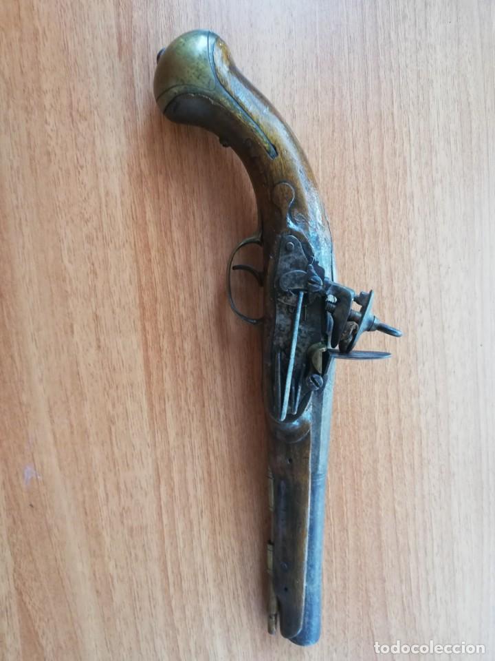 PISTOLA DE CHISPA ÚLTIMO TERCIO S XVIII (Militar - Armas de Fuego de Avancarga y Complementos)