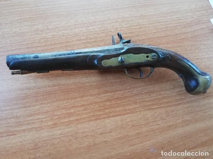 Militaria: Pistola de chispa ÚLTIMO TERCIO S XVIII - Foto 3 - 130898292