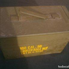 Militaria: CAJA METALICA MUNICION MILITAR ESTANCA . Lote 132121250