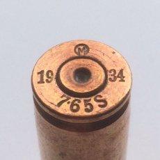 Militaria: CARTUCHO DE 7.65 X 54 . M EN O 1934 7,65 GUERRA CIVIL ESPAÑOLA . INERTE 7,65 MM. Lote 132781154