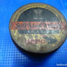 Militaria: CAJITA METALICA 500 MOD. MATCH CAL 4,5 GAMO BALINES. Lote 135777298