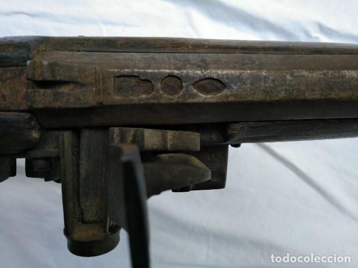 Militaria: ESPINGARDA ÁRABE DE GRAN TAMAÑO, DE LOS SIGLOS XVIII-XIX, CON LLAVE SNAPHAUNCE, DESACTIVADA - Foto 3 - 139546830