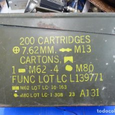 Militaria: CAJA METALICA VACIA PARA MUNICION 7.62MM. PARA M.G. M60-M73. Lote 140692306