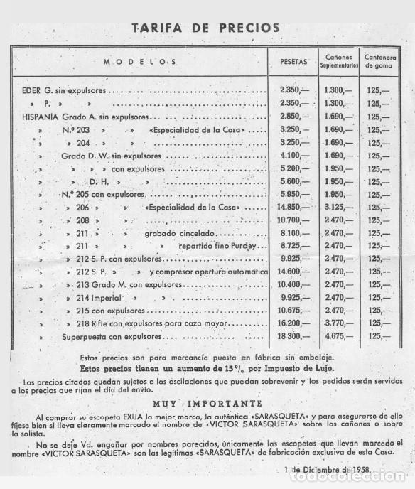 Militaria: ESCOPETA CAZA VICTOR SARASQUETA CAL. 20 - Foto 9 - 126987987