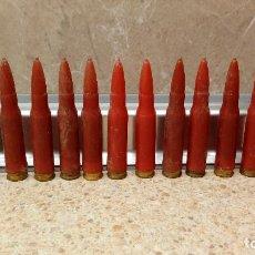 Militaria: LOTE DE 13 BALAS TRAZADORAS DEL EJERCITO ESPAÑOL * PERFECTAS *. Lote 143880630