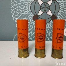 Militaria: LOTE DE 3 CARTUCHOS DE CARTON ORBEA. Lote 144291038