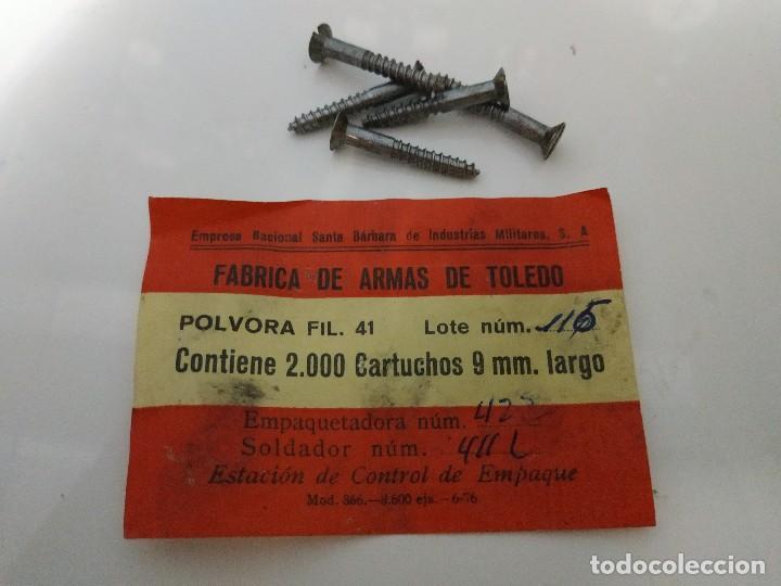 Militaria: Caja de municion de madera FCA. De Toledo 9 largo de 1976 - Foto 6 - 144517022