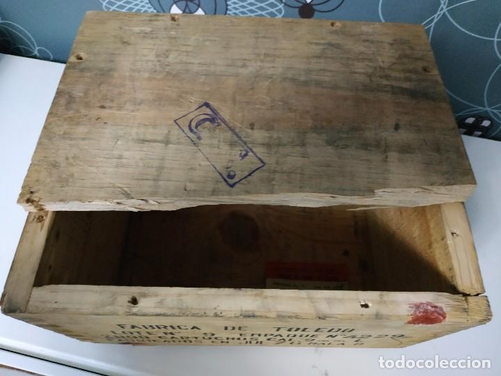 Militaria: Caja de municion de madera FCA. De Toledo 9 largo de 1976 - Foto 8 - 144517022