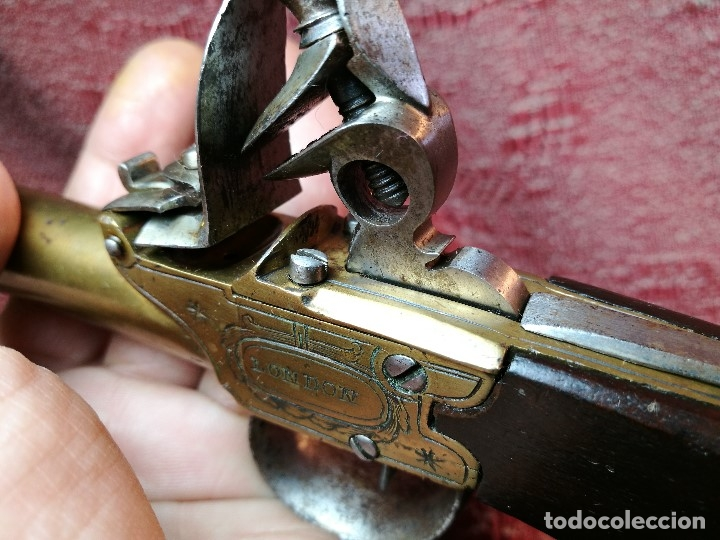 Militaria: pistola de chispa de bolsillo marina inglesa s. XVIII-tipo cachorrillo trabuco-SEGLAS LONDON- REF-CV - Foto 26 - 145992586