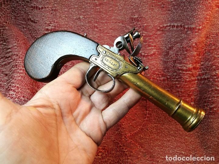 Militaria: pistola de chispa de bolsillo marina inglesa s. XVIII-tipo cachorrillo trabuco-SEGLAS LONDON- REF-CV - Foto 40 - 145992586