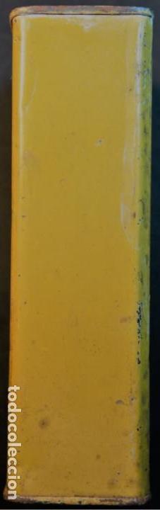 Militaria: Antiguo bote, caja o lata de pólvora de caza sin humo. P.S.B. Santa Bárbara. 250grs. - Foto 4 - 146943402