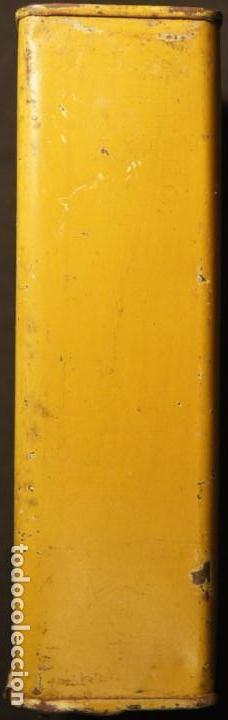 Militaria: Antiguo bote, caja o lata de pólvora de caza sin humo. P.S.B. Santa Bárbara. 250grs. - Foto 6 - 146943402