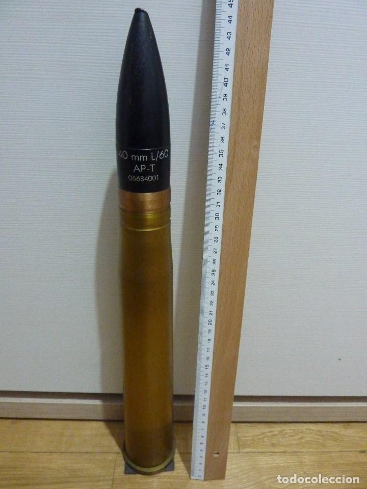 PROYECTIL CALIBRE 40 L/60 BOFORS INERTE (Militar - Cartuchería y Munición)