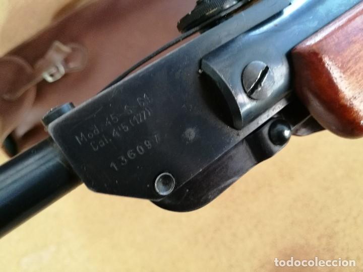 Militaria: Carabina aire comprimido marca GAMO, MODELO 45 -S-61 cal 4.5 mm -----------año 1961--- REF-CV - Foto 33 - 182792476