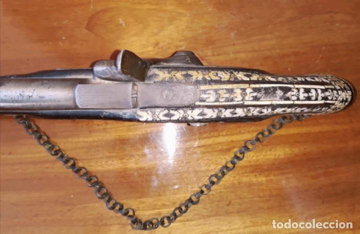 Militaria: Pistola Siglo XIX. Madera y hueso - Foto 7 - 153627010