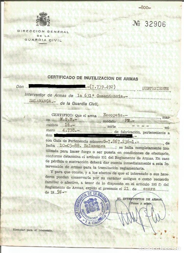 Militaria: ANTIGUA ESCOPETA DE CAÑONES PARALELOS - Foto 7 - 176407520