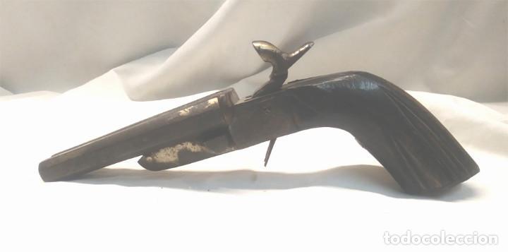 Militaria: Pistola Lefaucheaux Romer Brand 2 cañones Bélgica S XIX, Gatillos ocultos. - Foto 2 - 155316082