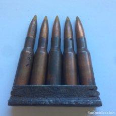 Militaria: PEINE CARGADOR 5 CARTUCHOS 7,62 X 54 R MOSSIN-NAGANT GCE INERTE. Lote 158556485