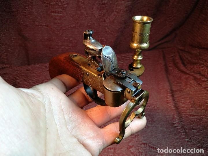 Militaria: pistol Flintlock Tinder Lighter-PISTOLA LAMPARA MECHERO CANDELABRO ITALY SIGLO XX-REF-CV - Foto 5 - 158941178