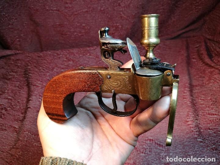 Militaria: pistol Flintlock Tinder Lighter-PISTOLA LAMPARA MECHERO CANDELABRO ITALY SIGLO XX-REF-CV - Foto 26 - 158941178