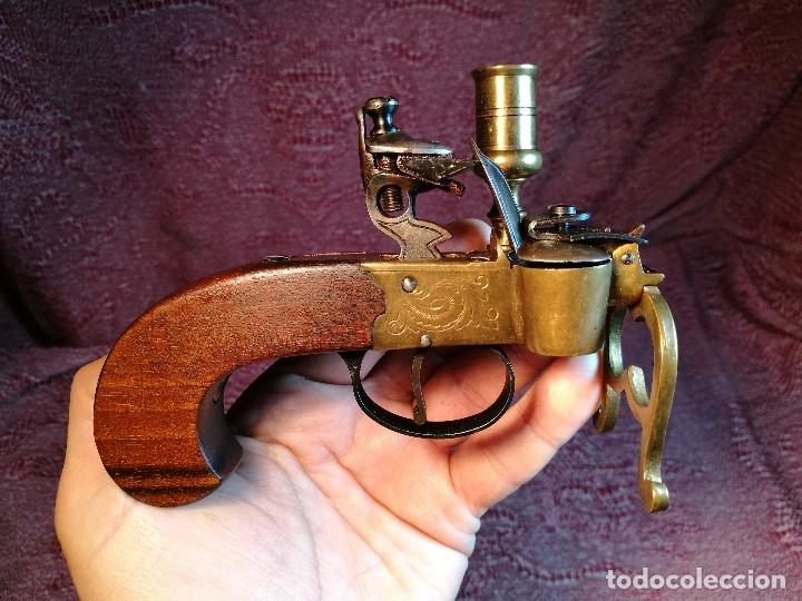 Militaria: pistol Flintlock Tinder Lighter-PISTOLA LAMPARA MECHERO CANDELABRO ITALY SIGLO XX-REF-CV - Foto 28 - 158941178