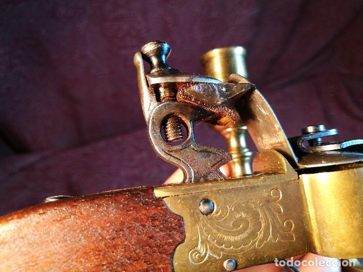 Militaria: pistol Flintlock Tinder Lighter-PISTOLA LAMPARA MECHERO CANDELABRO ITALY SIGLO XX-REF-CV - Foto 31 - 158941178