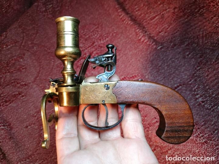 Militaria: pistol Flintlock Tinder Lighter-PISTOLA LAMPARA MECHERO CANDELABRO ITALY SIGLO XX-REF-CV - Foto 38 - 158941178