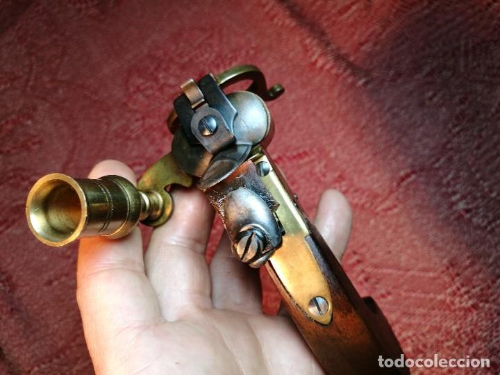 Militaria: pistol Flintlock Tinder Lighter-PISTOLA LAMPARA MECHERO CANDELABRO ITALY SIGLO XX-REF-CV - Foto 37 - 158941178